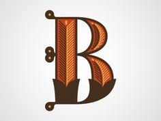 Letter B | Chris Rushing - Serifs & Sans
