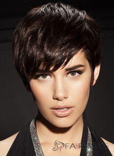 Dynamic Feeling from Short Straight Black 8 Inch Human Hair Wigs