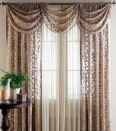 Elegant brown lace curtains for the living room teardropsonroses.blogspot.com