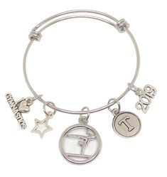 Personalized Gymnastics Bracelets that your Cheerleader will LOVE! Customize with her team colors, initial, date, size and more! Fast Shipping and Group Discounts - gotta love that! Order yours today at TheCheerleadingShop.com