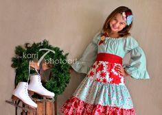 Girls Christmas Dress, Winter Wonderland, by SunLoveShirts on Etsy,  @Patty Barnett