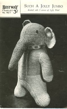 Vintage Knitting Patterns Toys : 1000+ images about Vintage Knitted Toys on Pinterest Vintage knitting, Toys...