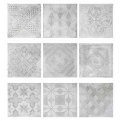 Our cement design mix matt tile. 200mm x 200mm.