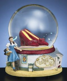 Ruby Slippers Musical Water Globe My girl would love this