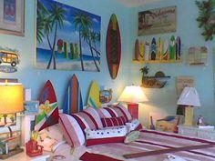 Beach dorm rooms on pinterest beach dorm room for Beach themed kids room