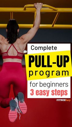Complete pull-up program for beginners. 3 easy steps Even if you can do just a few pull-ups, they will build lean muscle and speed up your metabolism thereby burning fat faster. Losing Weight Tips, Weight Loss Tips, How To Lose Weight Fast, Weight Lifting, Reduce Weight, Weight Training, Beginner Pull Ups, Pull Up Workout, Workout Plans