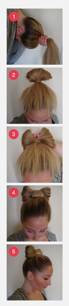 Hair bow hairdo. For more beauty posts visit spiderlash.wordpress.com