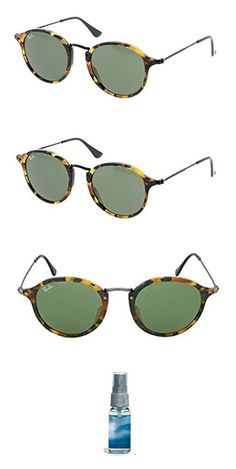 81091fc6a6e1a Amazon.com  Ray-Ban RB2447 Sunglasses Black   Green 49mm   Cleaning Kit  Bundle  Clothing