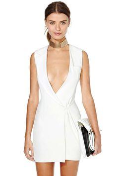 Nasty Gal x Shakuhachi Blank Slate Blazer Dress $170   #NastyGal