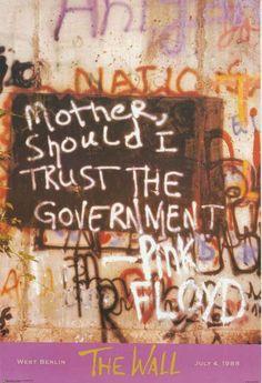 Pink Floyd Berlin Wall Graffiti Poster 24x36 – BananaRoad