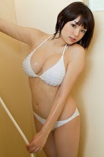 Ai Shinozaki Japanese Sexy Singer Showering Water In Bath Room Sexy White Bikini Fashion Photo Shoot ~ Sobporn Sweet Womens