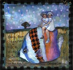 EBSQ AOTD: Did You Ever Ride a Wump? by Catherine Darling Hostetter.  One of my art friends.  Great artist and a very nice person.