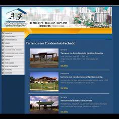 Website Antônio Ferreira imóveis - portifolio - #portifolio 2011 - #websites #socialmedia #3b #webstagram