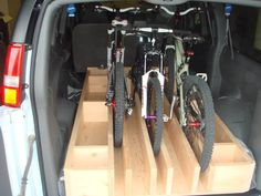 DIY or purchased item to transport bike(s) in van w/o removing front wheel?- Mtbr.com
