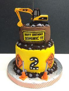 Under Construction Birthday Cake Construction Party Cakes, Construction Birthday Parties, Birthday Party Themes, Birthday Cake, Birthday Ideas, Digger Birthday, Tractor Birthday, Digger Cake, Themed Cakes