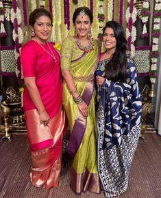 Bridal Sarees South Indian, Indian Bridal Fashion, Wedding Saree Blouse Designs, Saree Wedding, Engagement Saree, Engagement Hairstyles, Wedding Saree Collection, Bridal Collection, Saree Models