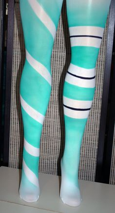 Vanellope style airbrushed tights by beadborg on Etsy, $35.00