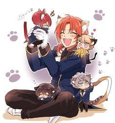Image Cute Anime Boy, I Love Anime, Anime Guys, Anime Chibi, Anime Art, Anime Titles, Boy Cat, Star Wallpaper, Anime Poses