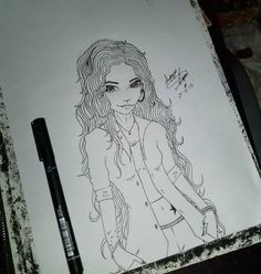 """70 curtidas, 1 comentários - Amanda Lima (@amanda_lim4) no Instagram: """"Pra passar o tempo ⏰ #drawing #draw #dibujo #desenho #ideiasfeitasamao #nanquim"""""""