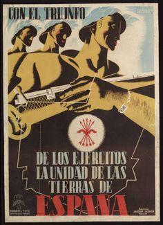 Con el triunfo de los ejércitos la unidad de las tierras de España :: Cartells (Biblioteca de Catalunya)