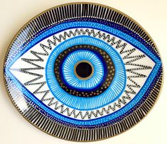 Evil Eye Decor - Wall Evil Eye - Original Art - Art Contemporary - Wall Hanging Decor - Wall Decor Evil Eye - Decorative Plate - Evil Eye by biancafreitas on Etsy