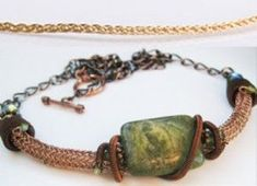 Viking Knit Chain and I Cord Chain Wire Jewelry Making, Jewelry Making Tutorials, Jewelry Tools, Wire Wrapped Jewelry, Chain Jewelry, Glass Jewelry, Jewelry Ideas, Knitted Necklace, Wire Necklace