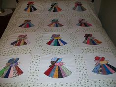 Fancy Sunbonnet Sue Quilt Top (homemade by me) 55x69 (Unfinished) in Crafts, Sewing & Fabric, Quilting   eBay