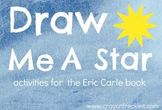 """math and art for Eric Carle's """"Draw Me a Star"""" #crayonfreckles"""