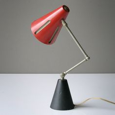 Vintage Rare 'Sun' Table Lamp by H.Th.J.A. Busquet for Hala