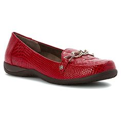 Vionic alda womens leather loafer red patent croco 7 5 https
