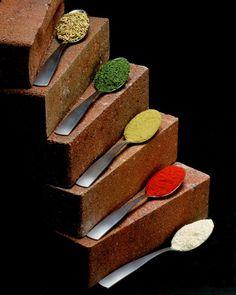 """maya47000: """"Brick Spice Rack by Shawn Rundblade """""""