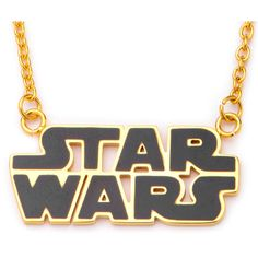 Star Wars Gold IP Stainless Steel Logo Cutout Pendant Necklace ($60) ❤ liked on Polyvore featuring jewelry, necklaces, pendant necklace, gold necklace pendant, cut out necklace, gold curb chain necklace and stainless steel necklace