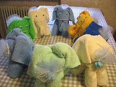 elefantini bomboniera con asciugamani