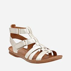 c46dbad4e46a Sarla Choir Champagne Metallic Nubuck - Womens Flat Sandals - Clarks® Shoes  Official Site Gladiator