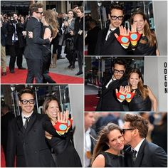 Premier Iron Man 3, Londres. Robert Downey Jr and his wife Susan!
