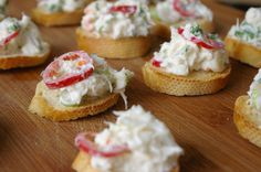 Crab crostini  #food photography, #crab crostini #nibbles #canapes