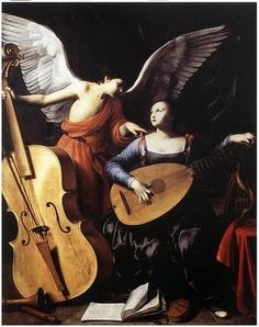 """Carlo Saraceni - """"Saint Cecilia and the Angel"""" 1610"""