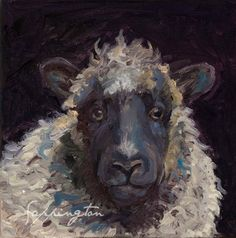 A personal favorite from my Etsy shop https://www.etsy.com/listing/259632558/sheep-painting-print