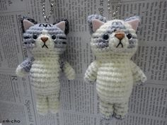 I love this little Kitty Keychains...So cute! I gott a have this! or a pattern for this!!