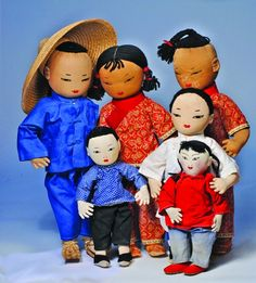 COLLECTION OF ASIAN PORTRAIT DOLLS BY ADA LUM. Ma : Lot 230