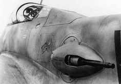 "The Messerschmitt Me 410 Hornisse (""Hornet""), which worked as heavy fighter and Schnellbomber (High-speed bomber), started work on 1943 until the end of the war. It had 16 variants, some with rocket launchers or 50 mm guns. Ww2 Aircraft, Fighter Aircraft, Military Aircraft, Luftwaffe, Gun Turret, Ww2 Planes, Aircraft Design, Fighter Pilot, War Machine"