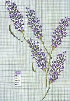 Brins de lavande. (free cross stitch chart)