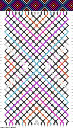 Friendship Bracelet Pattern #58918 I could probably figure it out on my own, but pinning it just in case
