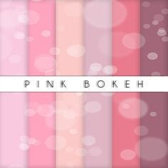 Pink Bokeh collection - set di carta da regalo e per scrapbooking