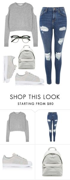 """""""Untitled #485"""" by anke1234 ❤ liked on Polyvore featuring McQ by Alexander McQueen, Topshop and adidas"""