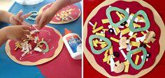 Manualidades de comiditas para niños: pizza #crafts #kids
