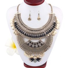 >> Click to Buy << New Bohemian Euro Necklaces Vintage Collier Antic Gold Choker Collar Multi Layer Necklace for Women Punk Style Black Boho neck #Affiliate