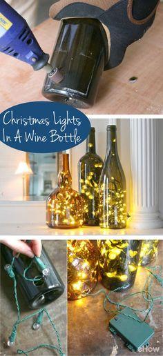 Wine Bottle Display, Wine Bottle Art, Glass Bottle Crafts, Bottle Bottle, Decorative Glass Bottles, Vodka Bottle, Empty Wine Bottles, Lighted Wine Bottles, Bottles And Jars