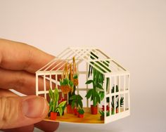 """""""Greenhouse"""" cut papers and watercolor by Mar Cerdà. More at marillustrations.com"""