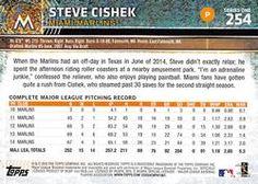 2015 Topps Mini - Black #254 Steve Cishek Back